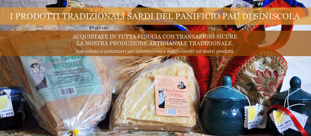 Prodotti tradizionali sardi del Panificio Pau di Siniscola